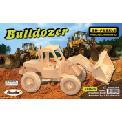 Puzzled Bulldozer 3D Natural Wood Puzzle