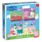 Peppa Pig 4-in-1 Jigsaw Puzzles in a Box