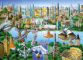 MasterPieces / Collector Suitcase 1000-piece Puzzle, Landmarks of the World