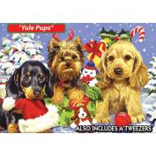 World's Smallest-Yule Pups Jigsaw Puzzle 234 Pieces 10cm X15cm TDC Games TDC7182