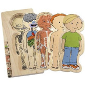 Beleduc Your Body - Boy 5-Layer Puzzle