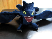 How to Train Your Dragon 18cm Inch Deluxe Night Fury Toothless Poseable Figure Plush Doll