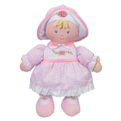 Rainbow Designs GN90356 28 cm Sophia Doll Wearing a Pink and White Gingham Dress