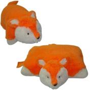 "ORANGE FOX PILLOW PET, ""SLEEPING FRIENDZ"" BRAND, LARGE 46cm"