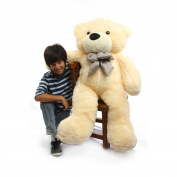 Cosy Cuddles - 120cm  - Irresistibly Cute & Extra Soft, Vanilla Cream, Plush Teddy Bear