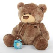 Tiny Shags - 90cm  - Tubby Bellied, Extra Huggable, GIANT TEDDY Mocha Brown, Plush Teddy Bear