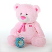 Lulu Shags - 70cm  - Tubby Bellied, Extra Huggable, GIANT TEDDY Brilliant Pink Plush Teddy Bear