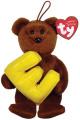 Ty Alphabet Beanies Letter E Bear