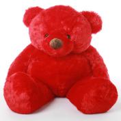 Riley Chubs - 120cm  - Irresistibly Cute & Cuddly, Giant Teddy Super Soft Red Plush Bear