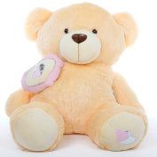 Gigantic Valentines Day - Honey Pie Big Love - Butterscotch Cream Snuggly 120cm Teddy Bear by Giant Teddy