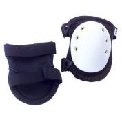 ALTA 50403 AltaFLEX Knee Protector Pad, Black Cordura Nylon Fabric, AltaLOK Fastening, Hard Cap, Long, White
