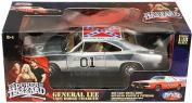 Dukes of Hazzard Rare Chrome General Lee 1:18 Scale Die Cast Car