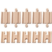 10 Pcs Wooden Train Track Male-male Female-female Adapter Pack Fits Thomas Brio