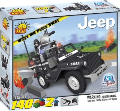 Cobi Action Town Jeep Willys MB Police SWAT