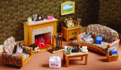 Sylvanian Families Country Living Room Set By Sylvanian