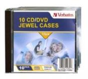 Verbatim CD/DVD Jewel Cases 10 Pack