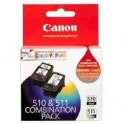 CANON Inks Cartridges PG510CL511C. Combo include PG510 BLACK + CL511 COLOUR