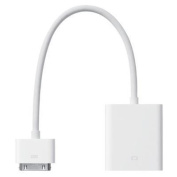 Apple Genuine 30pins Connector to VGA Adapter (MC552ZM/B) for iPad2/3