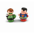 Fisher-Price Little People DC Super Friends Figures 2-Pack - Green Lantern and Superman