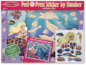 Melissa & Doug Peel & Press Sticker By Number-Mermaid Reef