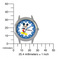 Disney Kid's Mickey Mouse Stainless Steel Time Teacher Watch -Print