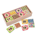 Melissa & Doug Wood Puzzle Card - Numbers