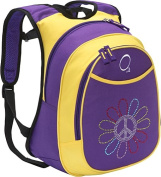 O3 Kids Pre-School Peace Flower Backpack with Integrated Lunch Cooler