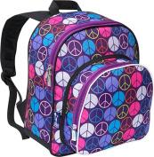 Peace Signs Purple Pack N Snack Backpack by Wildkin - 40212