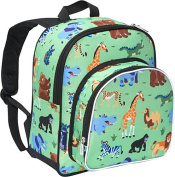 Wildkin Pack 'n Snack Backpack - Olive Kids Wild Animals