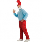 Rubies Costumes 195262 The Smurfs - Papa Smurf Adult Costume - Blue - Standard