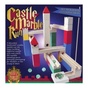Hand Painted Wooden Children's Castle Marble Run