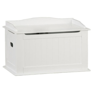 solutions by kids r us wood toy box white by solutions. Black Bedroom Furniture Sets. Home Design Ideas