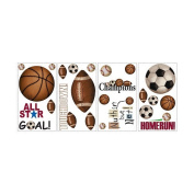 Roommates Roommates Rmk1001Scs Play Ball Peel And Stick Wall Decals