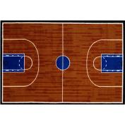 39x58 Area Rug- Basketball Court