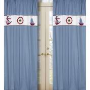 JoJo Designs Come Sail Away Collection Window Panels - Set of 2