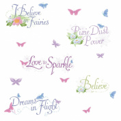 RoomMates Disney Fairies Phrases Peel & Stick Wall Decal