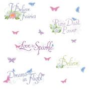RoomMates Disney Fairies Phrases Peel & Stick Wall Decal