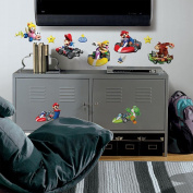 Roommate 771SCS Nintendo - Mario Kart Peel and Stick Wall Decals