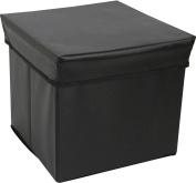 Tadpoles Square Shaped Storage Box Stool - Black
