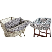 Itzy Ritzy Shopping Cart and High Chair Cover - Licorice Swirl