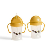 ZoLi Bot Straw Sippy Cup 180ml - Orange
