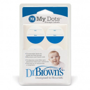 Dr. Brown's Designed To Nourish My Dot Storage Labels, 72-Count, Colours May Vary