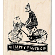 Inkadinkado Wood Mounted Rubber Stamp - Easter Delivery