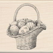 Inkadinkado Wood Mounted Rubber Stamp - Easter Basket