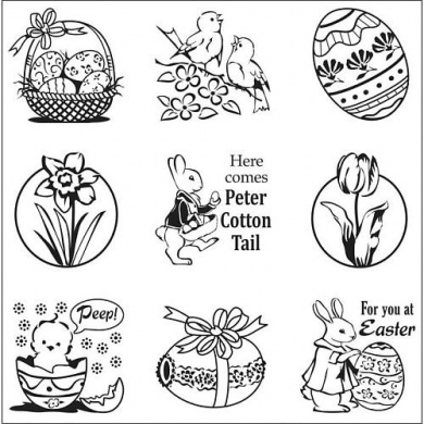 Inkadinkado Inchie Clear Stamps -  Easter