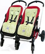 Itzy Ritzy SL8024 Ritzy Liner Stroller Liner - Avocado Damask
