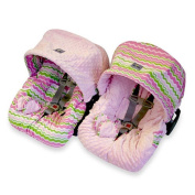 Itzy Ritzy ICS8054 Baby Ritzy Rider Infant Car Seat Cover - Little Miss Zig Zag