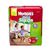 Huggies Little Movers Slip On Nappies Size 5 - 20Ct Jumbo Pack