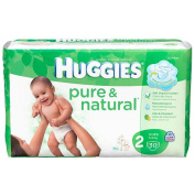 Huggies 30 Ct Pure and Natural Nappies - Size 2