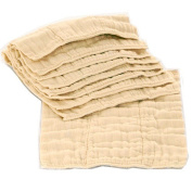 OsoCozy Unbleached Prefold Cloth Nappies - 6 Pack